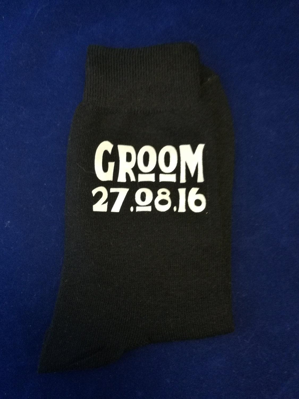 Personalised Groom Socks Wedding Socks Groomsman Gifts Usher Gift