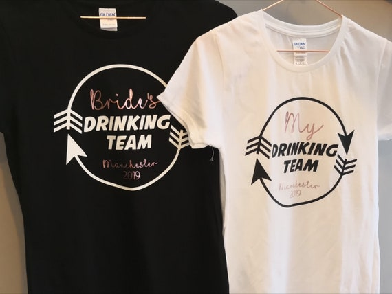 Personalised Brides Drinking team Hen T-shirt