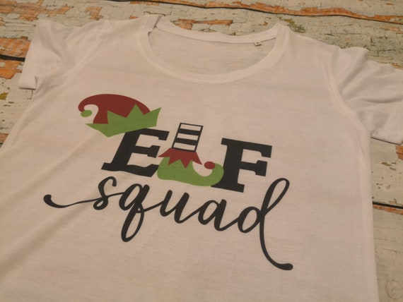 Elf squad t-shirt, ladies Christmas t-shirt, Christmas jumpers, Mens t-shirt