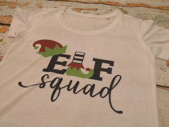 Elf squad t-shirt, ladies Christmas t-shirt, Christmas jumpers, Mens t-shirt