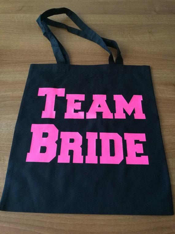 Team Bride bags, hen party gifts, gift bags