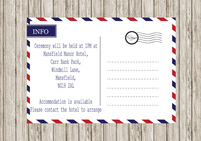 Air mail wedding invitation, Printable wedding invitations, Abroad ...