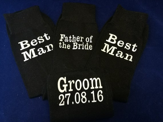 Wedding socks, Personalised groom socks, groomsman gifts, usher gift, personalized wedding socks, Best man socks, cold feet socks
