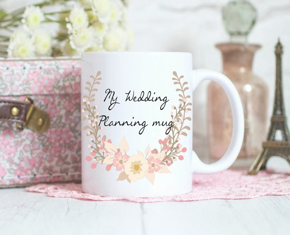 Wedding planning mug, personalised gift, Engagement gift, Bride to be Gift, Coffee mug, ceramic mug, wedding mug, personalized gift