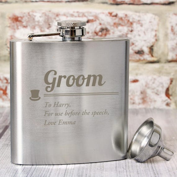 Groom personalised hip flask, Hip flask, Hubby gift, wedding hip flask, groomsman gifts, Personalised gifts, gifts for him, wedding gift