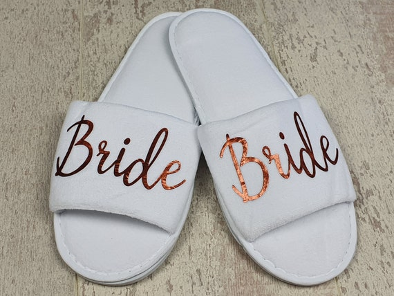 Luxury bridesmaid slippers, bridal party gifts, hen party, spa slippers, personalised slippers, Bridesmaid gifts