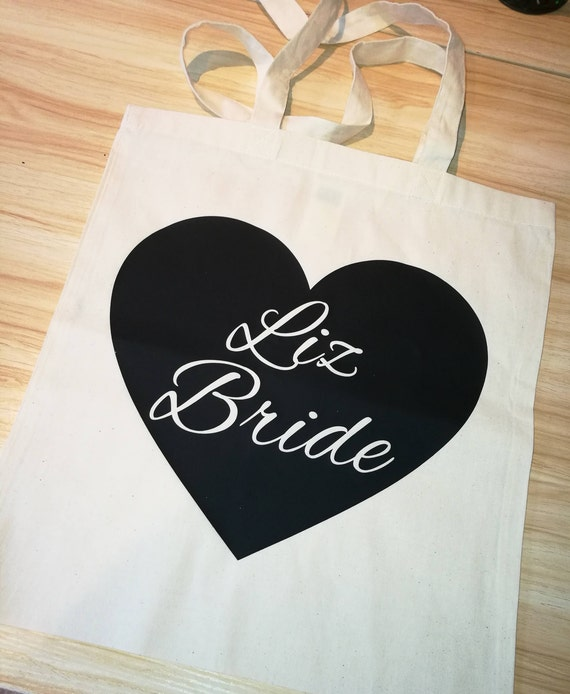 Bride canvas bag, Bridesmaid gifts, hen party bag, wedding bag, shopping bag, eco-friendly bag, bridal party gifts, wedding
