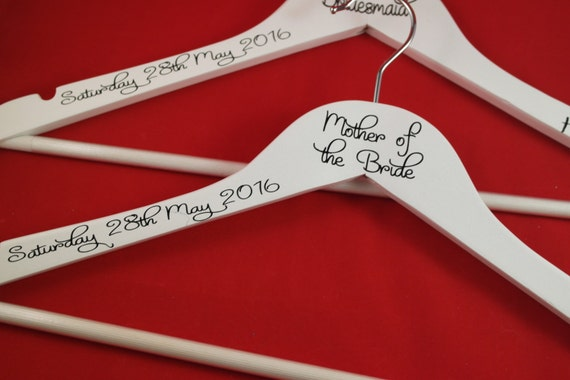 bridesmaid hangers, bridal hangers, wooden wedding hangers,  bridesmaid gift, wedding dress hanger, maid of honour gift, bridal party gifts