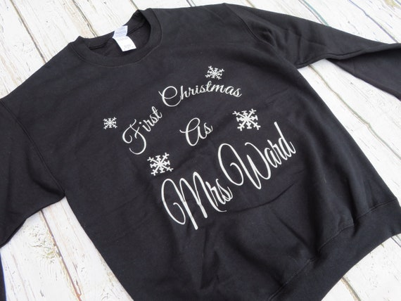 First Christmas as a Mrs Christmas jumper, Wifey Sweatshirt, Personalised sweatshirt, Just married gifts, Christmas gift
