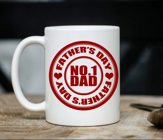 Number  1 dad mug, fathers day gifts, gifts for him