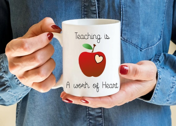 Teacher gift, Teacher mug, thankyou gifts, School teacher gifts, best teacher gift, end of term gifts, apple design, coffee mug,