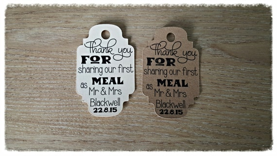 50 vintage, Shabby chic, tags and lables,  wedding stationery personalised ,First meal tags small pack of 50