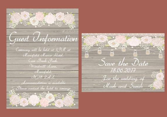 Mason Jar, rustic wood printable wedding invitation, shabby chic, Rsvp, print your own wedding invitations.