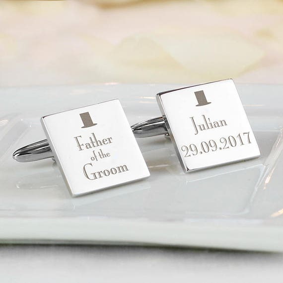Father of the Groom cufflinks, Personalised cufflinks, engraved cufflinks, Wedding gifts, best man gifts, Groomsman gifts, gifts for him