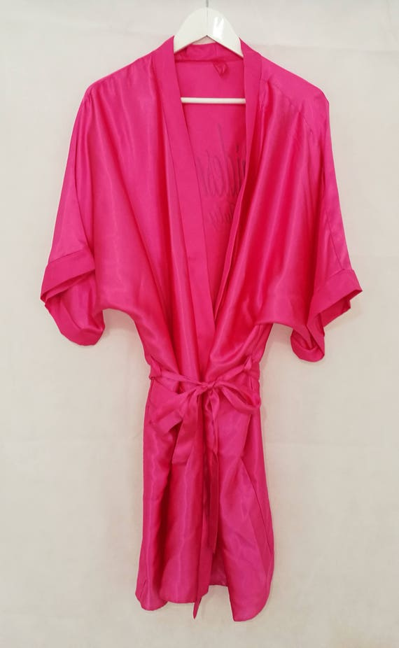 Heiße rosa Braut-Bademantel Morgenmantel personalisiert | Etsy