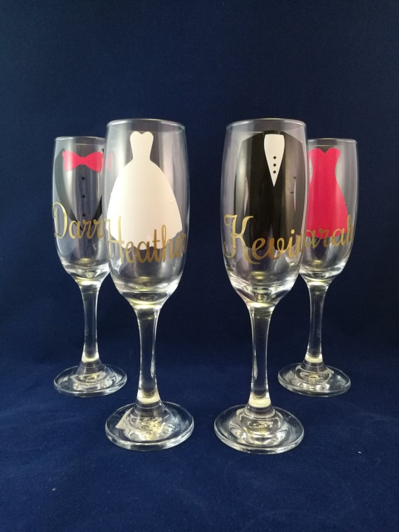 Wedding glass, bridesmaid gifts,Personalised First Toast Glasses, Custom wedding Favour, Glass wear,Champagne flutes, personalized favours