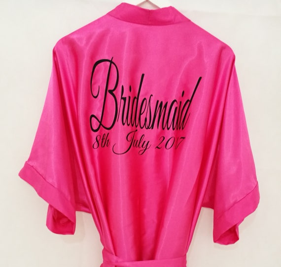 Hot pink bridal wedding dressing gowns (size from age 2 - adults 26)