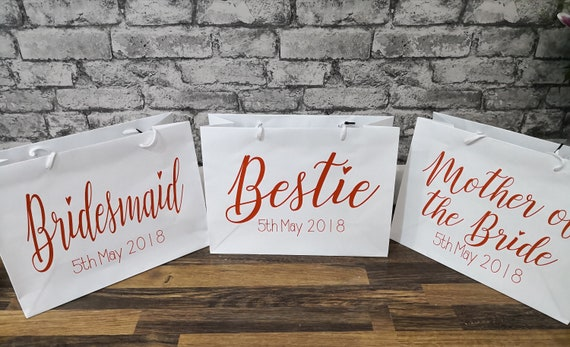 Personalised bridesmaid gifts bags, bridesmaid gifts, gift bags, bridesmaid box, maid of honour gift, bridal party gifts