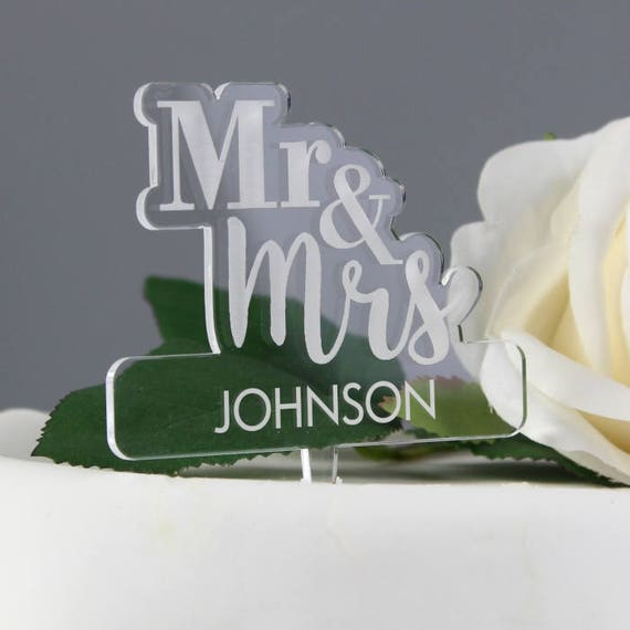 Personalised cake topper, wedding cake toper, Mr & Mrs, wedding cake, acrylic cake topper, wedding gift, wedding, cake