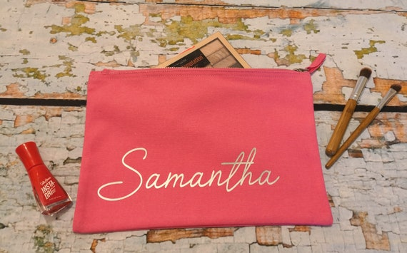 monogrammed makeup bag, Personalised makeup bag, bridesmaid gift,  hen party gifts