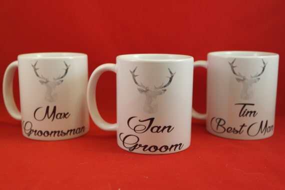personalised Groomsman gifts, Groomsman mugs, usher gift