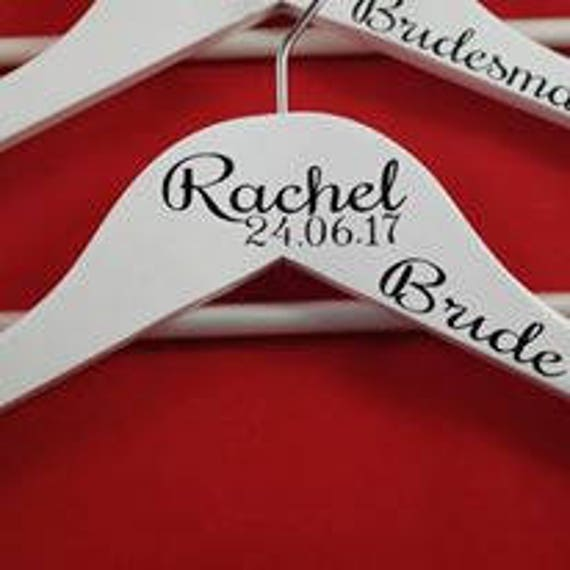 Personalised wedding hangers, bridesmaid hangers, wedding dress hanger, bridesmaid gift, maid of honour gifts, bridal party gifts, hangers