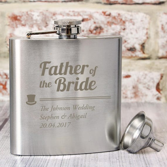 Hip flask, personalised hip flask, Father of the bride, wedding hip flask, groomsman gifts, Personalised gifts, gifts for him, wedding gifts