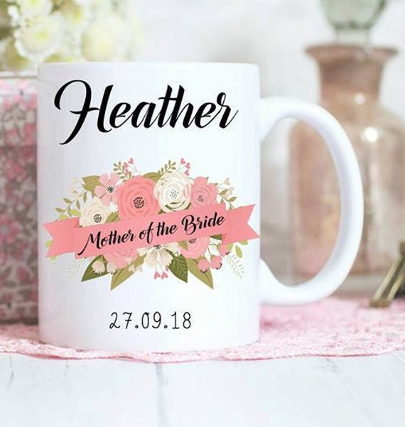 Mother of the Bride mug, Personalised gift, Bridal party gifts, wedding mugs,