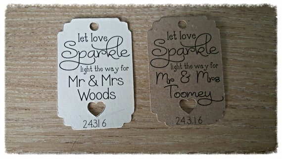 Sparkler tags, 50 vintage wedding tags, Rustic, Shabby chic style wedding stationery personalised tags,labels Wedding favours