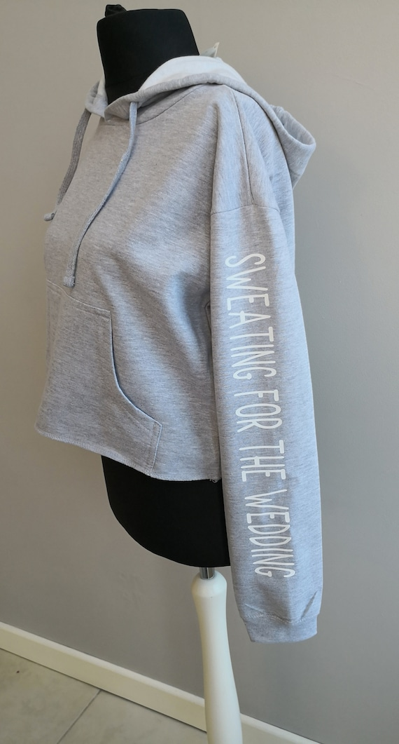 Sweating for the Wedding Cropped Hoodie