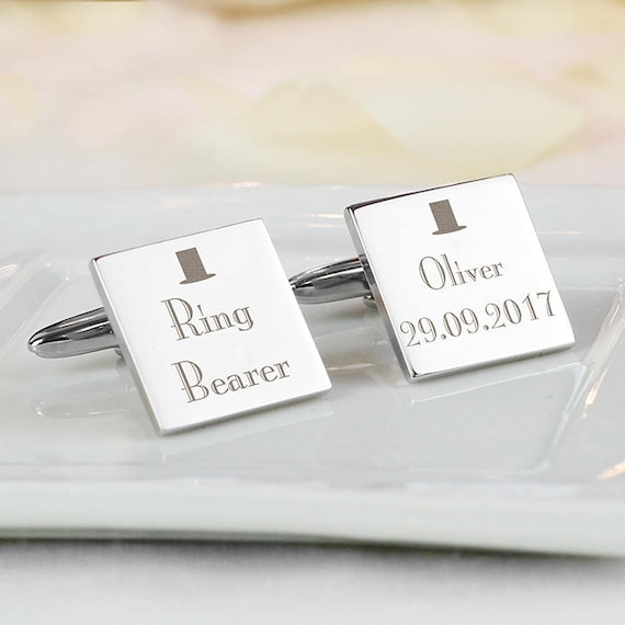 Personalised cufflinks, any role, Ring Bearer, engraved cufflinks, Page boy, best man gifts,  Groomsman gifts, Wedding gifts, gifts for him