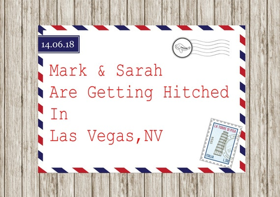 Air mail wedding invitation, Printable wedding invitations, Abroad wedding, Beech wedding, Post card invites, print your own