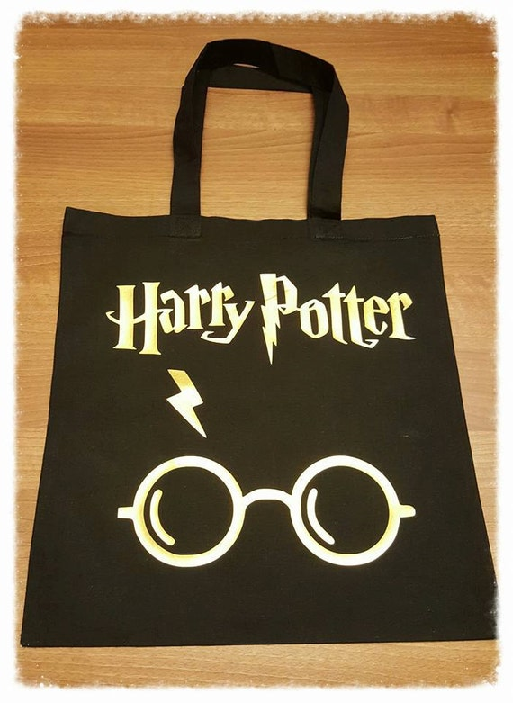 Harry Potter, Harry potter gift, canvas shopping bag, canvas shopping bags, eco shopping bag, fun gifts, stocking fillers, black tote bag