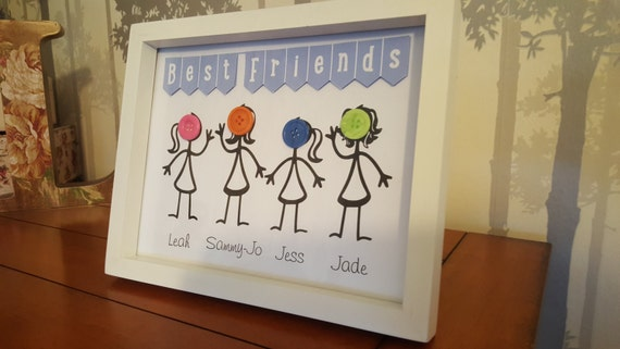 Button Family Picture Small frame (family tree), Family tree, best friends, gift ideas, Gifts for her, Family Gifts, keepsake items