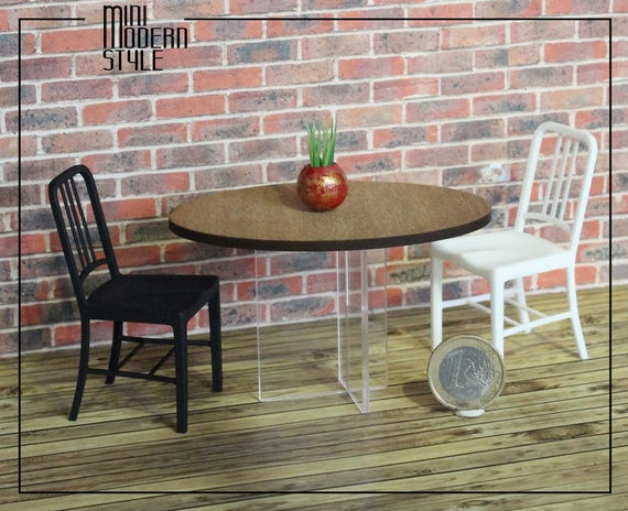 Ovale houten tafel dibetou met plexiglas benen schalen etsy