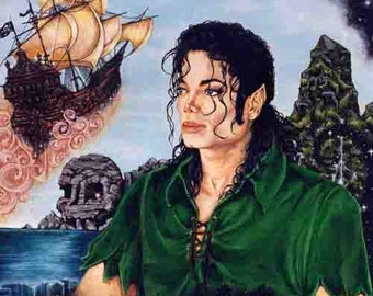 Michael Jackson PETER PAN print on deluxe art paper