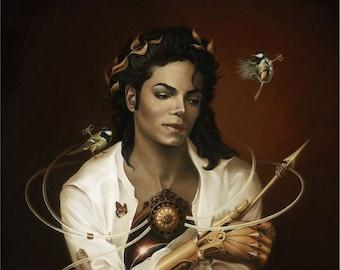 Michael Jackson ICON print on deluxe art paper