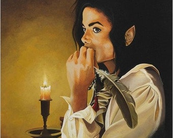 Michael Jackson REFLECTION print on deluxe art paper