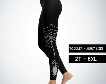 WEBBED Spider LEGGINGS HALLOWEEN Printed Leggings Womens Costume Leggings Blue Black and Grey Art Leggings Cosplay Fantasy Legging Pants