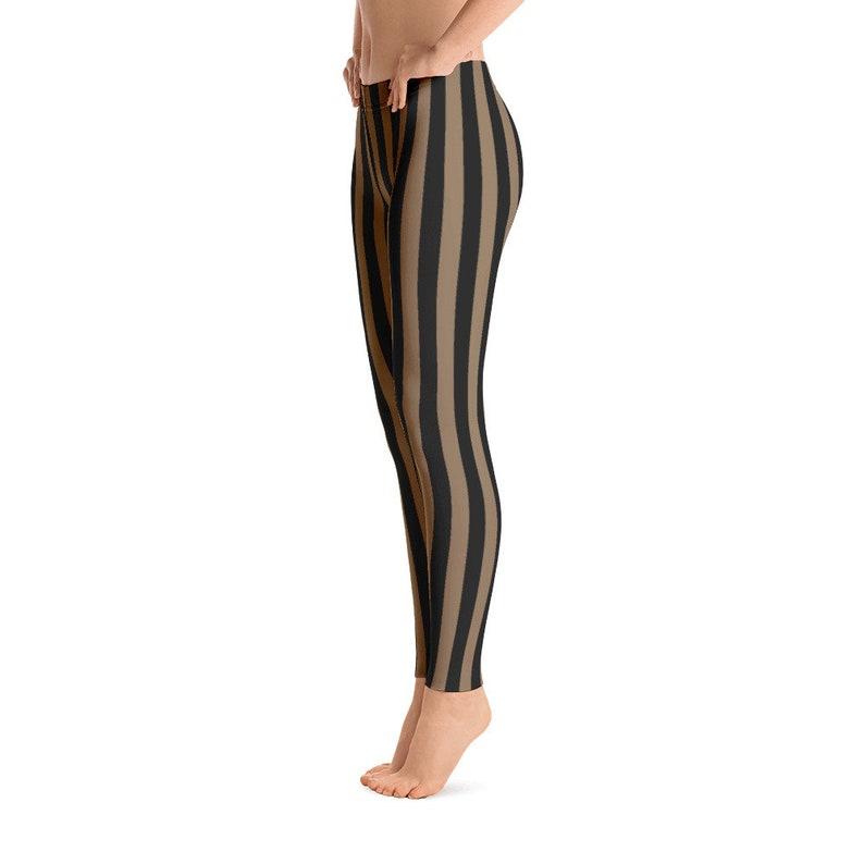 95659b1ce8d68 Black Brown Striped Leggings Capris Yoga Pants Shorts Kids | Etsy