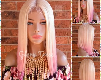 Ready To Ship Blonde Bob Wig Ombre Platinum Blonde Wig Etsy