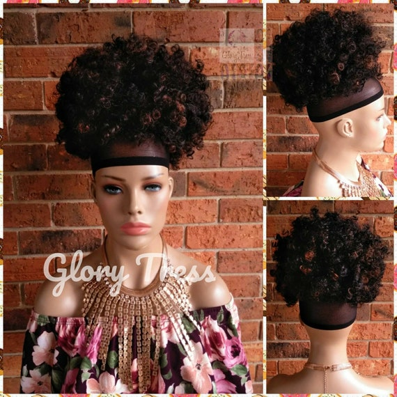 Kinky Curly Afro Drawstring Ponytail Wigs Black Ponytail Etsy