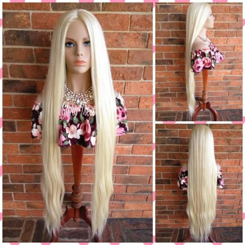 Perruque Blonde extra longue longue droite