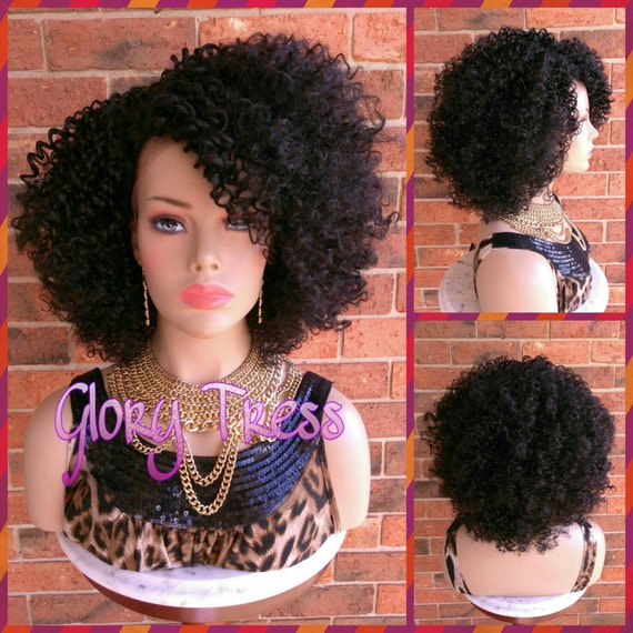 ON SALE    Kinky Curly Lace Front Wig Big Curly Afro Wig  8a3c6f7b9