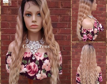 Wavy Lace Front Wig, Wavy Wig, Ombre Blonde Wig, Blonde Wig,  Glory Tress, Wigs, Wig, New Arrival // YOU'RE BRILLIANT
