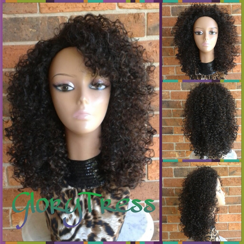 97c298266cd ON SALE    Kinky Curly Half Wig Big Afro Curly Wig African