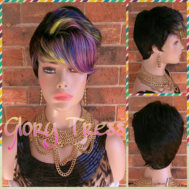 Ready To Ship Short Razor Cut Full Wig Pixie Cut Hairstyle Etsy