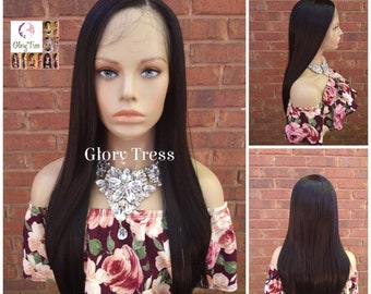 NEW ARRIVAL // Straight Lace Front Wig, Straight Wig, Human Hair Blend Wig, Black Wig, 13 x 4 Free Parting// BELIEVE