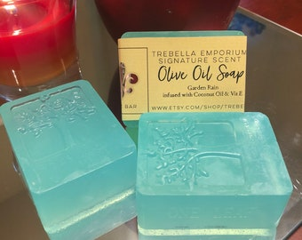 Handmade Olive Oil Soap-Garden Rain