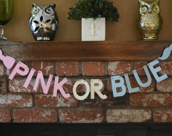 Pink Or Blue Banner, Gender Reveal Banner